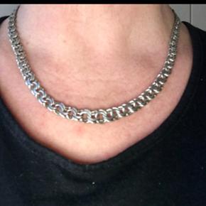 Bismark sølv halskæde måler 45 cm