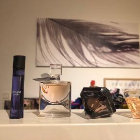 Miniature parfumer 5stk  Armani code 5ml balmain extatic 5ml lancôme la vie est belle 4ml lancôme la nuit tresór 5ml Lancôme tresôr 7,5ml