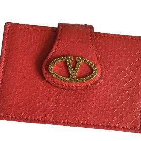 Valentino  ny kollektion kortholder/pung i ræd python