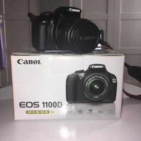 Canon EOS 1100D kameraBrugt men fejler INTET. Boks, taske, oplader og memory card (16GB) hører med. Sælges for 2000,- ellers byd!