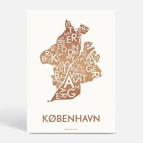 København plakat fra Kortkartellet i kobber tryk