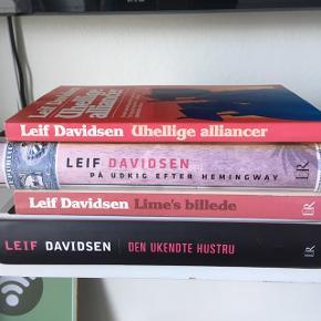 Leif Davidsen krimier.  Prisen er for dem alle samlet.