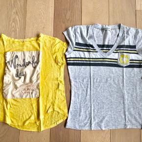 To t-shirts fra henholdsvis Converse og Zara. Sælges samlet eller hver for sig. Se også mine andre annoncer med tøj i samme str.