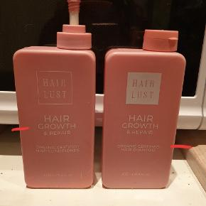 Jeg sælger min shampoo og conditioner begge af mærket Hairlust, da jeg ikke får dem brugt.  Jeg har afmærket på billedet hvor meget der er i hver.   Ny pris: 179 kr pr stk. Sælges til 50 kr pr. Stk.  Kan sendes på købers regning eller afhentes i Nørresundby 😁