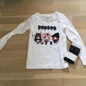 Halloween trøje og strømpebukser str 134/140