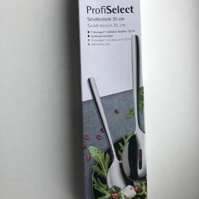 Profiselect salatbestik i blankt stål 25cm, stadig i æske. Nypris 450kr