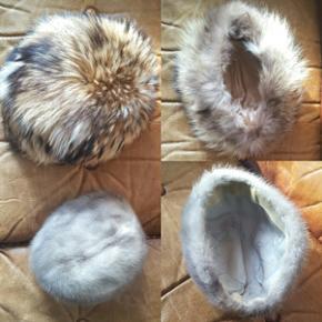 2 stk ægte pels hatte/huer