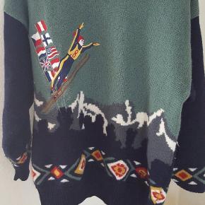 Fantastisk Fila striktrøje i 100% uld med fedt skihop mønster.