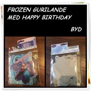 Frozen gurilande med happy birthday nyt byd