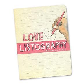 """""""Your love life in lists"""" fra """"Listography"""" bog serien. Alternativ dagbog med kærlighed som tema - se billederne øverst for info/beskrivelse af bogen, eller googl evt. Listography og bliv klogere på det sjove koncept 😊 Denne er helt ny/ubrugt, 168 sider lang og med bogmærke. Sælges for 100 kr. plus porto"""