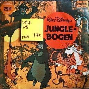 Junglebogen vinyl lp plade t grammofon fin stand Cover lidt baldret