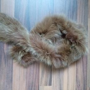 Ægte pels tørklæde ca 100 cm lang