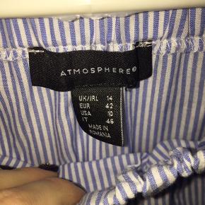 Halløj❤️ Sælger denne fine lyseblå stribede off-shoulder bluse.  Jeg synes den er for lille, så derfor sælger jeg den🐝  Kan ikke huske den nye pris, eller hvor jeg købte den.  Nede for enden, hænger der nogle tråde, som man enten skal klippe af, eller sy?🌹  Sender ikke, afhentes i Albertslund❤️