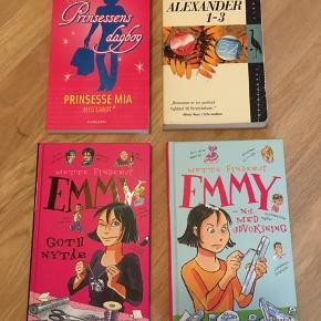 Fire gode børne/ungdoms bøger nok primært henvendt til piger  Liv og Alexander bind 1-3 Prinsessens dagbog - prinsesse mia Emmy - nu med udvoksning Emmy - goth nytår
