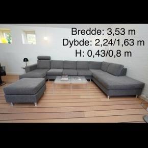 Lækkert designer sofa Smuk og frisk farve Vandafvisende  Brugt minimalt  Købspris ca 32000  Haste sælges