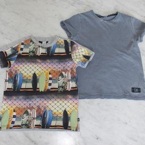 T-shirt, 3 t-shirts, Molo og Name-it, str. 128  1 Molo t-shirt str 128 med surfbræt 1 Molo t-shirt str 128 med tyr på ryggen (forvasket look fra ny af) 1 Name-It t-shirt med ansigt foran str 7-8 år.  Jeg har en del andet tøj i samme str til salg, så tjek evt mine annoncer.