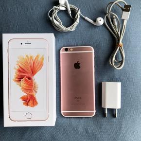 IPhone 6s - 64GB.  Ikke nogle ridser.  Antennen virker ikke, men kan udskiftes. Cover, lader & høretelefoner medfølger.
