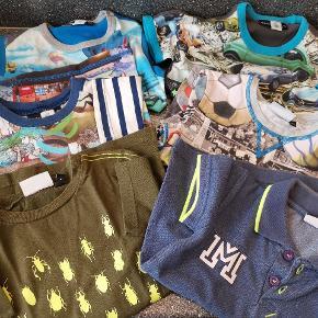 T'shirts pakke str. 104 fra Molo, Danefæ, Småfolk og Hummel. Pæn stand (fra brugt få gange til god med brugt) brugt af et barn.