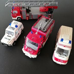 Forskellige udrykningskøretøjer med lyd og blinkStk pris 30 kr