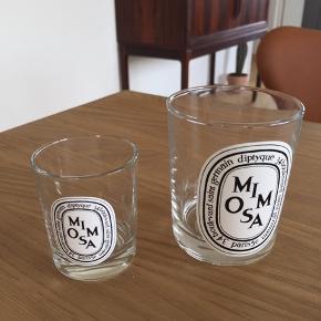 Fine små glas fra Diptique duftlys