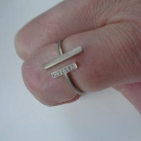 sølv ring str 50