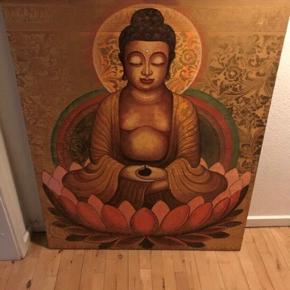 Buddha 100x120 cm. Det er stof. Fra Indonesien. Sender ikke. PRISEN ER FAST