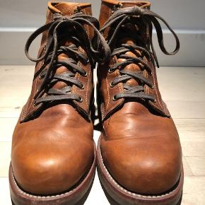"""Lækre boots fra det amerikanske mærke """" original"""" Chippewa - handcrafted in USA Cognacfarvet læder Str. 9  Nypris 2800 krMindstepris 800 + porto ( DAO ) via Mobilepay"""