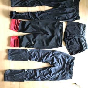 Endurance tights STR s 150,-  Shorts 50,- STR small  Adidas 3/4 tights 125,- STR small  Kari traa vintertights 200,- STR small