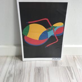 Mål: 21x30 Asbjørn Lønvig Plakat   Flot til børneværelset    (Det brune der ses i toppen af plakaten er bare pap fra emballagen)
