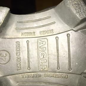 De lækreste gummistøvler fra Aigle. Modele Depose Str. 37  Ved hurtigt køb, så kan de erhverves for 275,-