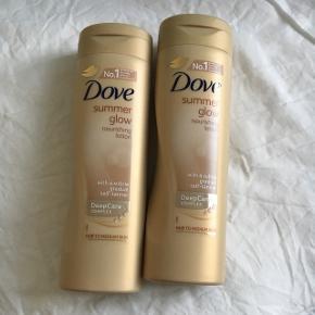 2 styk Dove summer glow (selvbruner)  Giver en fin selvbruning af huden uden at blive orange 🌟 Aldrig brugt. Byd gerne og tjek mine andre annoncer for mængderabat 🤗