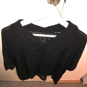 Skjorte med blonderyg