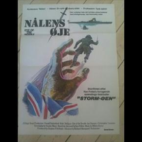 Original filmplakat Nålens Øje 62 x 84 cm