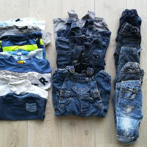 Blandet tøjpakke m. to huer.  Str 62-74-80-86  Ialt 20 dele.  Adidas ZARA VRS Lupilu Mads og Mette Friends NextBaby  NSN og GMB.
