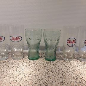 4 Pepsi glas og 2 Coca cola glas  Nye Samlet pris på 25 kr
