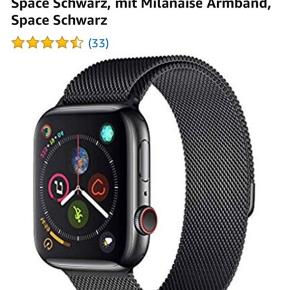 Helt ny appel watch. Unisex.  Apple Watch Series 4 (GPS + Cellular) 44 mm Rustfrit Stål Etui, Space Black, Med Milanaise Armbånd, Space Black  NP: 6350kr