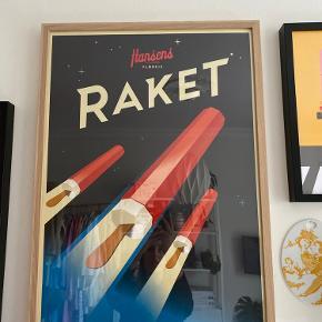 Fin plakat fra Hansens flødeis. Sælges uden ramme.