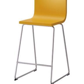 1 stk gul BERNHARD BARSTOL FRA IKEA til salg.  Kvittering haves og kan fremvises.   Afhentes selv i Hillerød.  Fejler ingenting- næsten som ny.