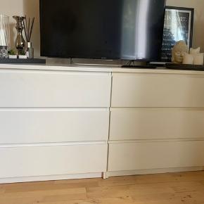 To kommoder fra Ikea  OBS bemærk en lille farve forskel på de to (sådan har det altid været)  Sælges samlet for 150kr