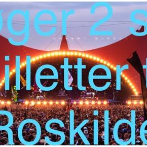 Søger to billetter til Roskilde. Skriv gerne hvis du kan opstøve dem. Enten to full-trickets eller to til en random dag :-)