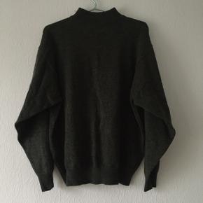 Mørkegrøn sweater strik højhalset fra Morgan Casual, str. M/38-40