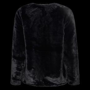 Flot fake fur pels jakke fra Zhenzi, den er brugt 1 gang, og fremstår som ny. Den er med rund hals, og lukkes med 3 hægter. meget flot og elegant