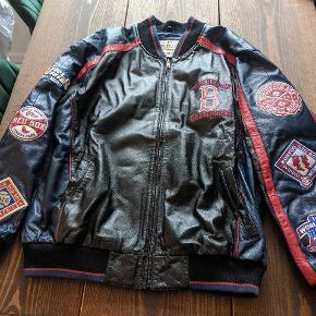 Official Major League Baseball brand Boston Red Socks leather jacket