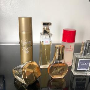 One million parfume samt One million Deo solgt  Clean solgt.  75 kr. stk