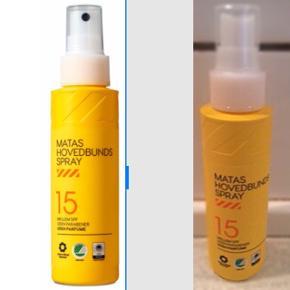 """MATAS STRIBERHovedbundsspray SPF 15 100 ml.  Sælges da jeg bruger et andet mærke.  Fra slut Maj og blot brugt 2 'pump'.   Nypris: 70 kr.  Sender og bytter ikke.  """"Let & parfumeri der giver dig effektiv beskyttelse mod solens stråler.  Når solen melder sig på himlen, er det vigtigt at beskytte et af de mest udsatte steder på kroppen – hovedbunden. Matas Hovedbundspray er nem at fordele og trænger hurtigt ind i huden. Dens formel består blandt andet af panthenol, der giver huden fugt og virker plejende og reparerende, samt antioxidativ E-vitamin, der tilfører en beskyttende effekt. Hovedbundssprayen yder en god mellem beskyttelse på solfaktor 15, og sørger for, at du trygt og afslappet kan gå sommerens sol i møde.  Sprayen har bredspektrede filtre, der beskytter mod både UVA- og UVB-stråler, samt fotostabile filtre, der sikrer, at solfaktoren ikke ændres og dermed bevarer sin styrke.  Anvendelse For at få den bedste beskyttelse og opnå den solfaktor, der er angivet på produktet, skal du gøre følgende:  Skaldet: brug 10 pump Isse: brug 2-3 pump Skilning: brug 1 pump  Spray med en afstand af 20 cm. fra hovedbunden"""""""