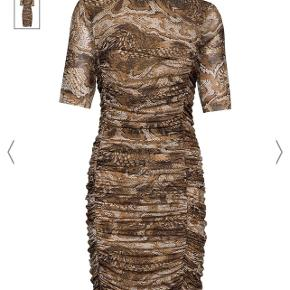 Ganni printed mesh dress (Tigers Eye) - Size 36