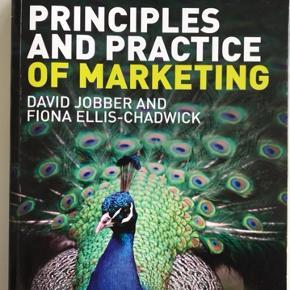 Principles & Practice Of Marketing - The Ultimate Learning Resource (7. udgave), David Jobber & Fiona Ellis-Chadwick.   Der er lavet overstregninger, men ikke noter.   Kan hentes i København eller Roskilde.