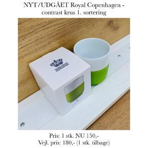 NYT/UDGÅET Royal Copenhagen - contrast krus 1. sortering   Pris: 1 stk. NU 150,-  Vejl. pris: 180,- (1 stk. tilbage)   Se også over 200 andre nye produkter, som jeg har til salg herinde :-)