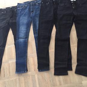 3 jeans fra Jack&Jones og et par fra Just junkies str 29/32. Prisen er for alle 4 par