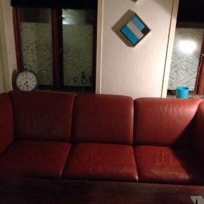 Okselæder sofa ( tung)